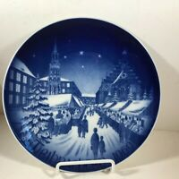 BAREUTHER WALDSASSEN Bavaria Christmas Plate 1969 Christmas Market