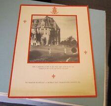 1956 Manoir Richelieu Restaurant Menu Murray Bay Quebec Canada Golf Photo Cover