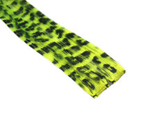 """CLIP-IN 12"""" HAIR EXTENSION NEON YELLOW LEOPARD EMO"""