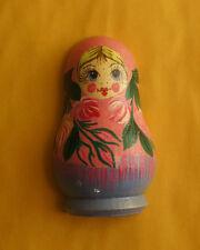 Russian MATRYOSHKA Nesting Doll Refrigerator Magnet Hand Painted Wood