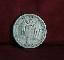 1 Drachma 1954 Greece Copper Nickel World Coin Paul I KM81 Greek