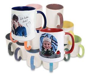 Fototasse Tasse individuell mit Ihrem Foto Wunschmotiv Logo bedruckt - 9 Farben