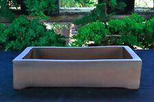 """Large 14"""" Rectangular Thin and Shallow Yixing Zisha Bonsai Pot (KB1-2)"""