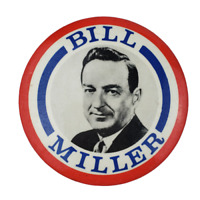 Vtg Bill Miller Political Campaign Pinback Pin Button