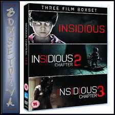 INSIDIOUS -  3 FILM BOXSET - INSIDIOUS 1 2 & 3 BRAND NEW DVD BOXSET***