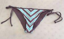 NEW! L SPACE FS20C15 'Two-Timer' REVERSIBLE Side-Tie Bikini Bottoms, M - Pebble
