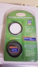 New Tristar Optics Filter Bonus Pack 55MM (UV FIlter, Circualr Polarizer, Pouch)