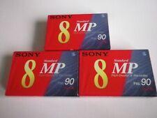 SONY VIDEO 8MP TAPE CASSETTE 90 PAL X 3