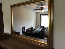 Large Gold Vintage Appliqué Mirror 56x43