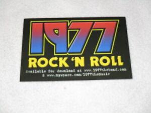 KISS BRAND NEW 1977 ROCK N ROLL DOWNLOAD POSTCARD UN USED LOVE GUN