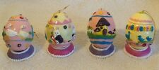Decorative Easter Eggs - Set of 4 - beautiful design & colors + Grocery preowned
