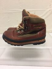 Timberland Kids Brown Leather Ankle Boots Boys Sz 11 M DISTRESSED