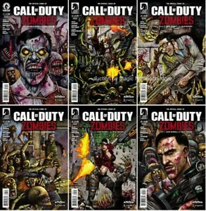 CALL OF DUTY: ZOMBIES (6) Issue Set #1 2 3 4 5 6 Dark Horse 1st print comic lot