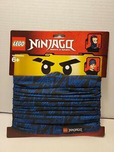 Q - LEGO Ninjago Face Mask - Kids Size - Ninja Blue Bandana - Tube Style - New