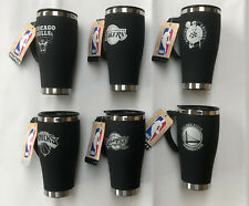More details for thermal travel mug insulated coffee flask - official nba basketball 450ml