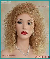 Curly Wig Long Sexy Stunning Spectacular Blond T27.613  1194