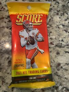 2021 Panini Score Football Value Pack - 40 Total Cards -NEW