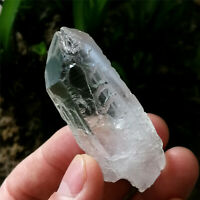 36g Clear Etched Himalaya Nirvana Quartz Natural Interference Crystal Specimen