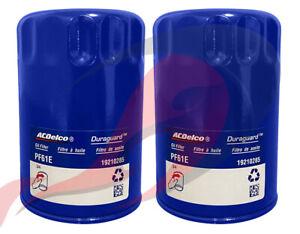 Genuine GM ACDelco Engine Oil Filter PF61E PF61F Set Of 2