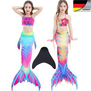 Meerjungfrau Mädchen Mermaid Bikini Badeanzug Bademode Schwimmbare Schwanzflosse