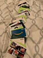 LOT OF 12 GIFT CARDS ASSORTED AMAZON STARBUCKS CHIPOTLE Blank/Empty