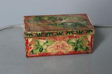 antike Dose Blech mit Papier Seife der block Mandel Garten frères Paris