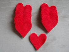 Red Felt Die Cut Hearts,120 Hearts, Valentine's Day Hearts, Valentine Decoration
