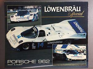 1984 Porsche 962 Löwenbräu Showroom Advertising Sales Sheet RARE Awesome LF