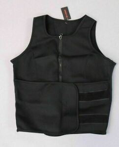 Perfect Sculpt Sleeveless Weight Loss Sauna Sweat Vest Black/Pink Sizes XS-4XL