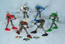 All 6 Lego Bionicle RAHKSHI (8587 ~ 8592) 100% Complete + 3 Extra WILD KRAATA