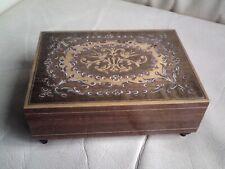 Vintage Wooden Music Box - Trinket Box - OLD LANG SYNE,USED,