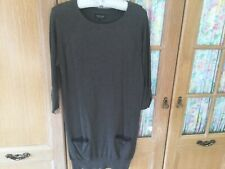 Topshop Long Style Jumper Dress Size 6 But Also Size 8/10 In Mid Brown In Cotton