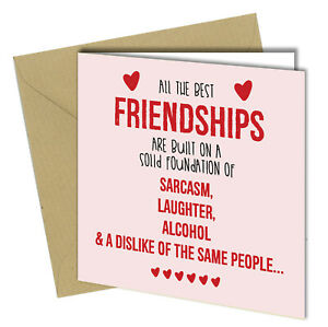 #719 All The Best Friendships Birthday Greetings Card Funny Rude 150x150mm