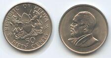 G13257 - Kenia 50 Cents 1968 KM#4 XF+ Präsident Mzee Jomo Kenyatta Kenya