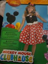 NWT NIP Girls Minnie Mouse Halloween Costume Size 4 5 6 Mickey Mouse Clubhouse