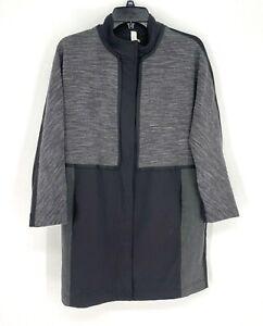 Women Lululemon Cocoon Car Coat Luon Size Small 6 Shine Dot Black long jacket S