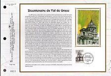 2830++FEUILLET CEF SUR  SOIE 1er JOUR 1993  BICENTENAIRE DU VAL DE GRACE