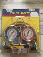 """YELLOW JACKET 42004 - Series 41 Manifold 3-1/8"""" Gauges w/ Hoses R22/404A/410A"""