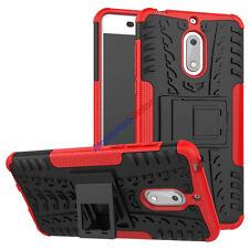 For Nokia 6 Case Slim Rugged Armor Hybrid Kickstand Protective Phone Cover