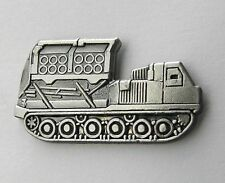 MLRS MULTIPLE LAUNCH ROCKET SYSTEM ARMORED VEHICLE LAPEL PIN BADGE 1.1 inches