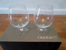 Pair of Orrefors Napoleon Cognac Glasses