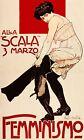 Femminismo Italian Woman Wearing Pants Feminist Vintage Poster Repro FREE S/H