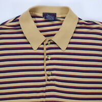 Vtg Hathaway Golf Polo Shirt Mens LARGE Lightweight Thin Striped Made in Japan