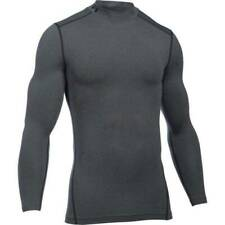 Under Armour Men's UA ColdGear Armour Compression Mock Top - Large - Grey - New