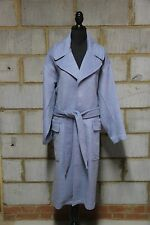 ASOS Ladies  Coat In Relaxed Fit With Belt UK 18 Pastel Blue