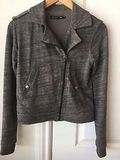 NWOT Rag & Bone/Knit Cotton Gray Grey Moto Jacket xs (0 2) extra small