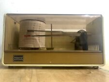 More details for working vintage casella thermohygrograph 1960s/70s electromechanical drum chart