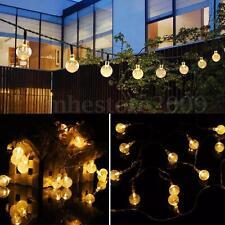 Solar Powered 30 LED String Light Bulb Garden Path Yard Decor Lamp Home Outdoor