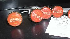 FURNITURE KNOBS/ PULLS, COCA COLA, NEW W/TAGS 8 PCS