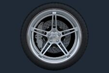 bordo Anelli di Protezione ruota Ringz DA 15 pollici argento
